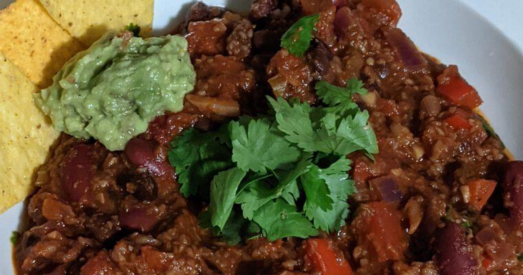 Ultimate vegan chilli